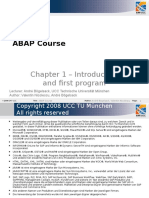 ABAP Course - Chapter 1 Introduction and First Program