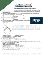 SBI PO MAINS Data Analysis Interpretation Memory Based 1