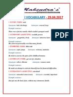 Hindu Vocabulary 29-04-2017