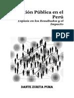 Zurita Puma, Dante - La Gestion Publica en El Peru - 273 Pag