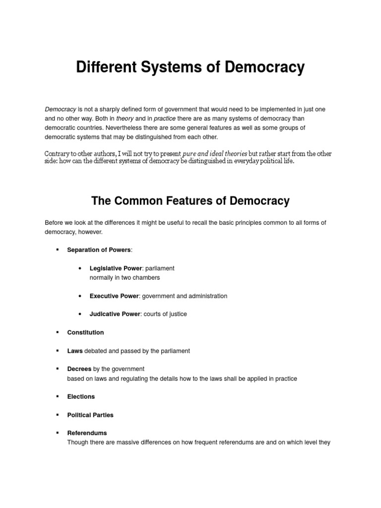 Democratic and anti-democratic political regimes: what is the difference