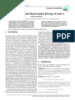 On Single-Valued Neutrosophic Entropy of order α