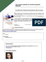 Publication l Analyse de La Masse Salariale en Controle de Gestion Sociale Par Yolande Francois