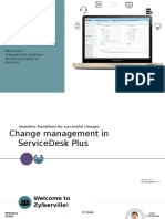 ITIL Change Management in Servicedesk Plus