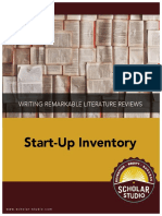 Lit Review Start-Up Inventory
