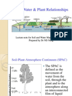 1 Soil, Water & Plant Relationships