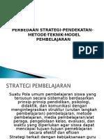 Perbedaan Pendekatan, Strategi, Metode, Teknik, Model