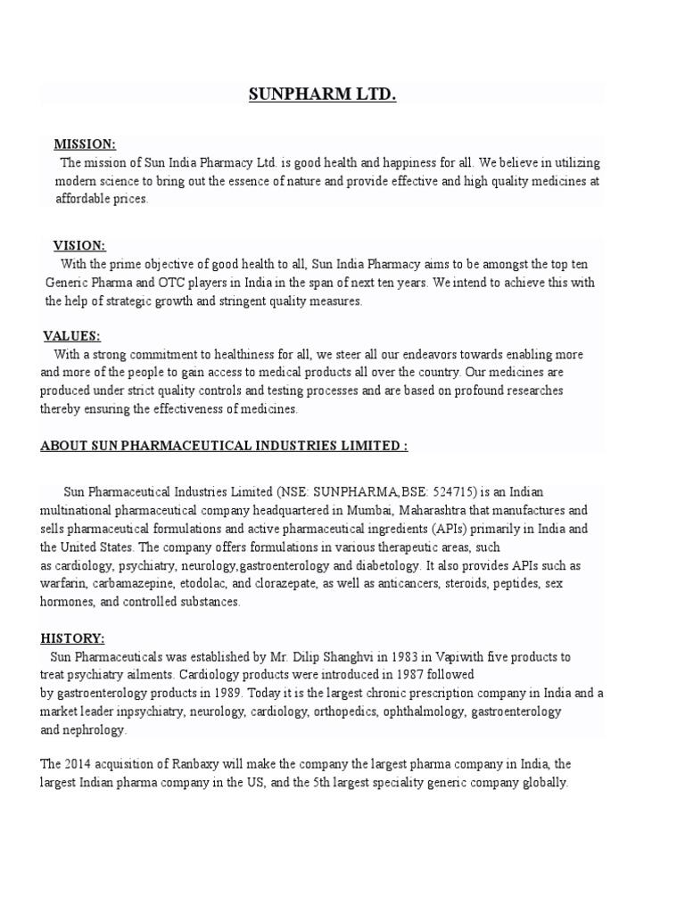 SUNFARMA   Pharmacy   Pharmaceutics