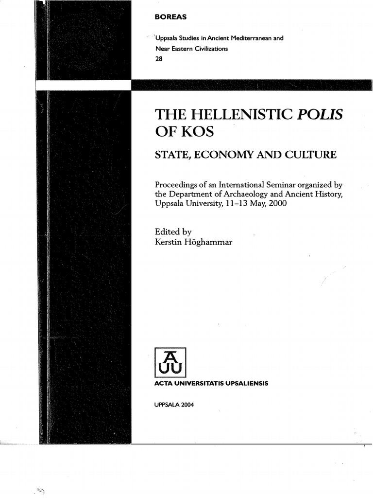 THE HELLENISTIC POLIS OF KOS.pdf | Epigraphy