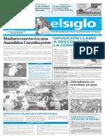Edición Impresa El Siglo 02-05-2017