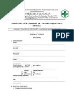 Formulir Laporan Unsiden KTD,KNC Dll
