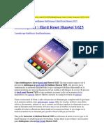 Desbloquear Hard Reset Huawei Y625