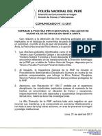 COMUNICADO PNP N° 13 - 2017