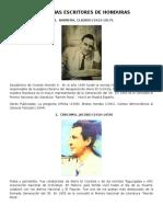 Biografias Escritores de Hondureños