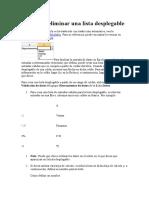 Insertar o Eliminar Una Lista Desplegable en Excel