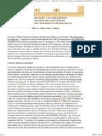 El Cristianismo y Las Religiones. Presentación Del Documento de La Comisión Teológica Internacional - S.E. Mons. Luis F. Ladaria (8 Marzo 2012
