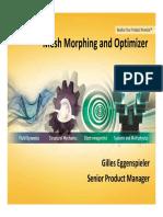 Optimization Mesh Morphing Optimization 8