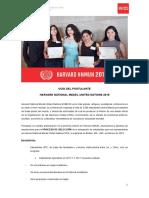 GUIA DEL POSTULANTE HARVARD NMUN 2018 (UPC)