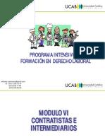 Derecho laboral Contratistas e Intermediarios LOTTT