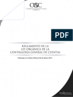 reglamento d la ley orgánica de la contraloría general de cuentas de la nación