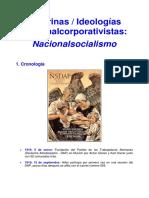 Doctrinas e Ideologías Nacionalcorporativistas. Nacionalsocialismo