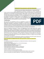 . NOM-006-SSA2-2013, Prevención TBP