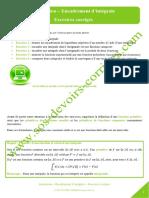 Integration Calcul Integral Encadrement Integrale
