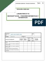 Laboratorio 05 - Funciones Matemáticas y Estadísticas