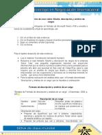 Evidencia 1 Solución de Caso Diseño, Descripción y Análisis de Cargos (2) (1)