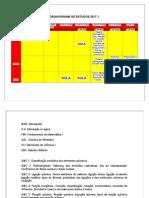 Cronograma de Estudos 2017