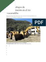 Inician Trabajos de Descolmatación en El Río Vilcabamba