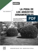 Botanica - Jardineria - Cuaderno de Poda de Arbustos Ornamentales 1979