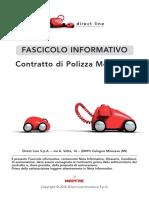 Fascicolo Informativo Polizza Moto Direct Line 2017