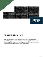 Ijin Mendirikan Bangunan (Imb)