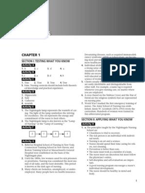 Fundamentals 10 Ed Workbook Answer Key Pdf Nursing Health Care