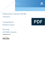 Performance Tuning in SAP BW and BI