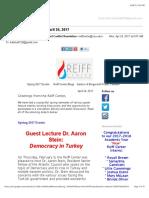 reiff center newsletter