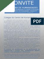 Convite Para Semna de Humanidades