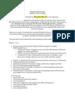 Exam 2 Study Guide ECON640