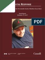Matthew Hines Report