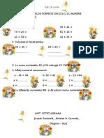 Adunarea Numerelor Formate Din z Si u Cu Numere Formate Din z Si u