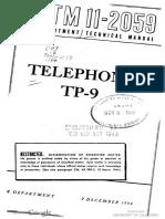 TM11 2059 Telephone TP 9