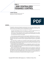 Area and Centralized Maintenance Control
