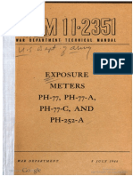 Tm11 2351 Exposure Meters Ph 77, Ph 77 a, Ph 77 c, And Ph 252 A
