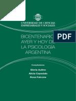 Bicentenario Ayer y Hoy de La Psicologia Argentina