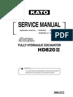 Kato HD820-III Service Manual