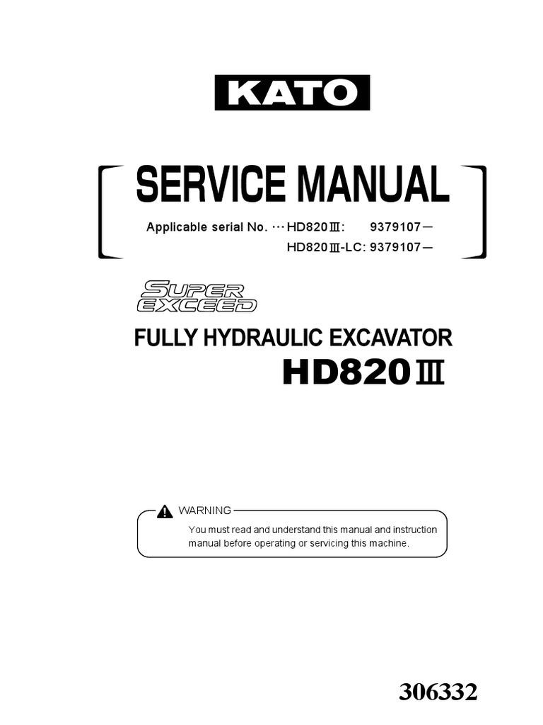 kato hd820 iii service manual battery electricity pump