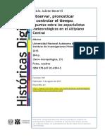Planteamientos Conceptulaes Sobre Tiemperos en México