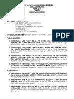 Mentor Planning Commission Agenda