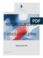 WCE Modules and Timing